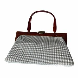 Vintage Whiting and Davis Mesh And Bakelite Purse.